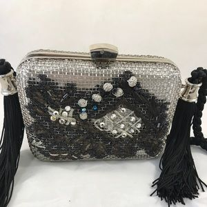 RODO silver metal shoulder bag